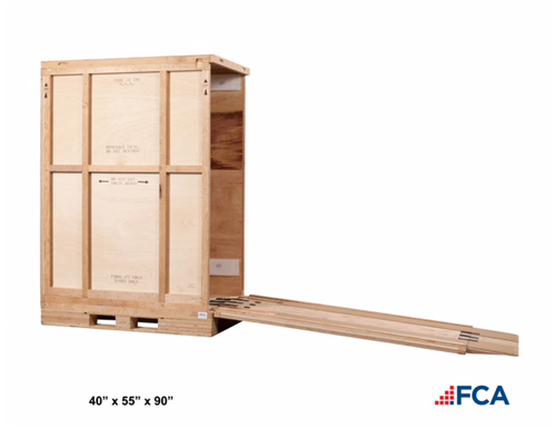 crate with ramp