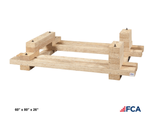 Custom Equipment Skid. Custom wood skids options.