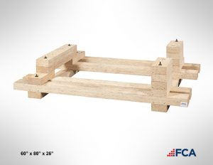 custom built wood skids